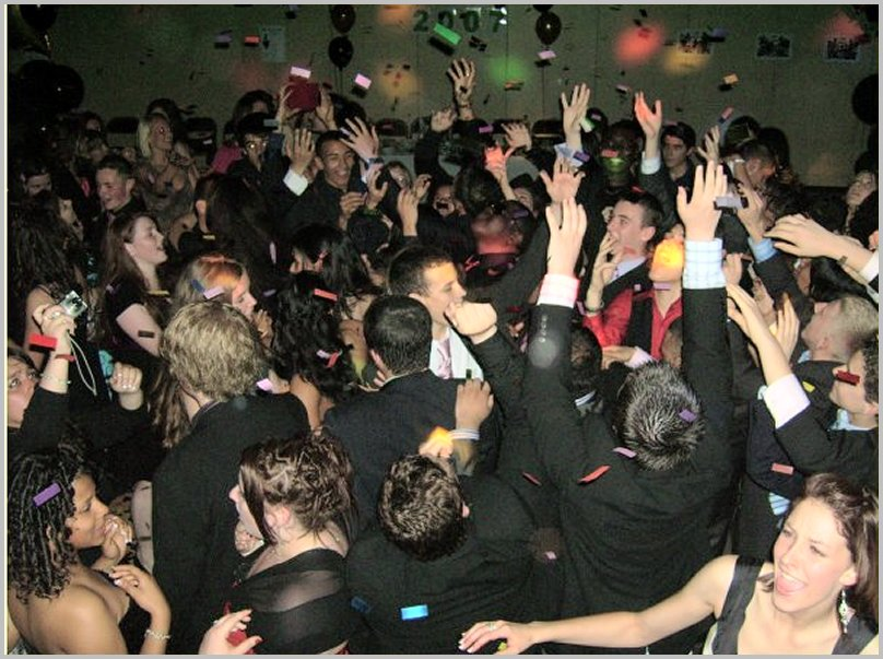 a prom night party with Toffs Mobile Disco