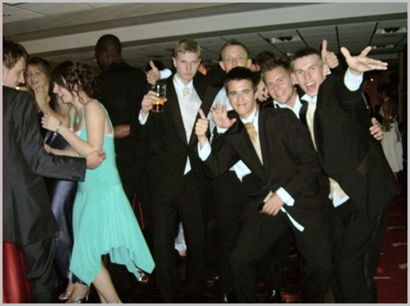 a school prom night party disco